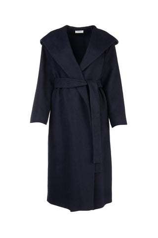 The Row Riona Hooded Belted Coat