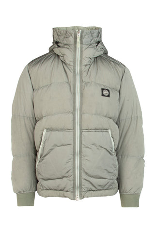 Stone Island Logo Patch Padded Hooded Jacket