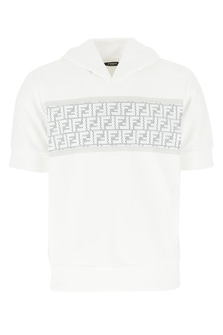 Fendi Logo Short-Sleeved Sweatshirt