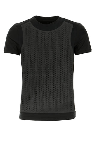 Fendi Ribbed Crewneck T-Shirt