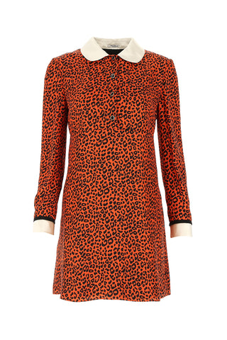 Miu Miu Leopard Print Mini Dress
