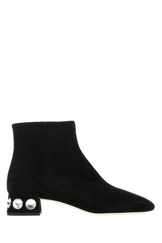Valentino Embellished Heel Ankle Boots