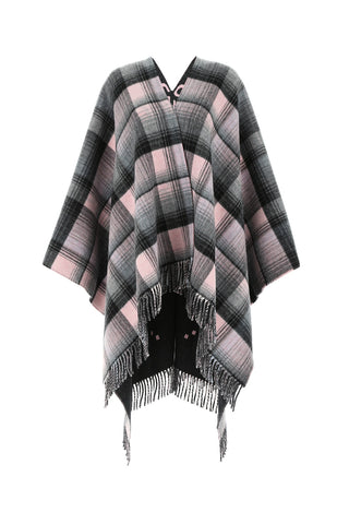 Gucci Reversible GG Check Fringed Poncho
