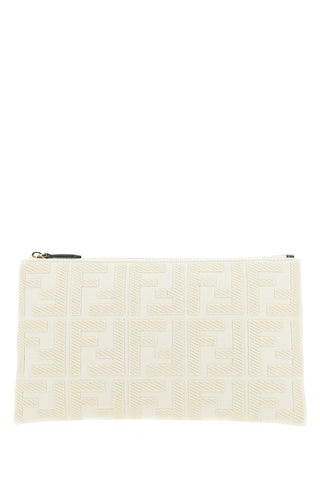 Fendi Embroidered Logo Pouch