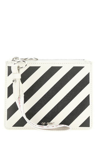 Off-White Zipped Diag Clutch Bag