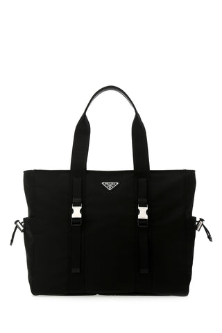 Prada Front Buckle Tote Bag