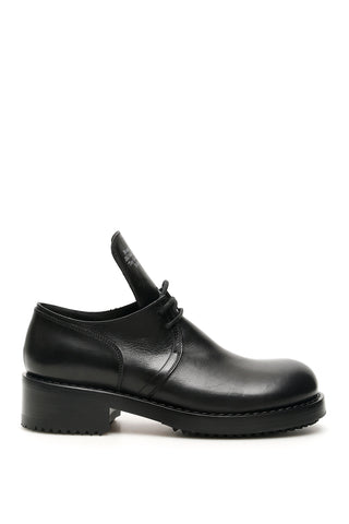 Raf Simons Text Embossed Derby Shoes