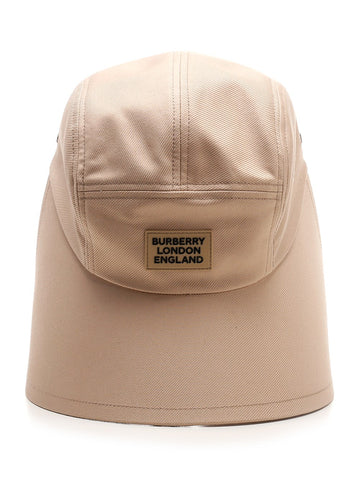 Burberry Logo Appliqué Bonnet Cap