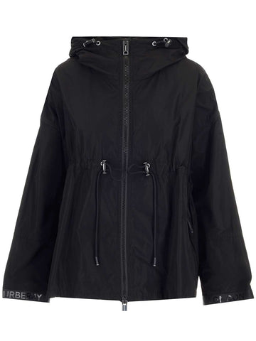 Burberry Logo Tape Hooded Jacket