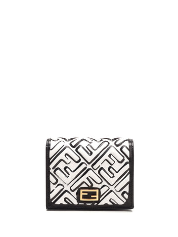 Fendi Logo Embossed Wallet