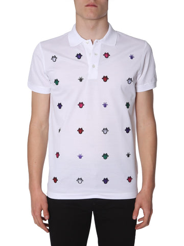 Dior Homme Bee Embroidered Polo Shirt