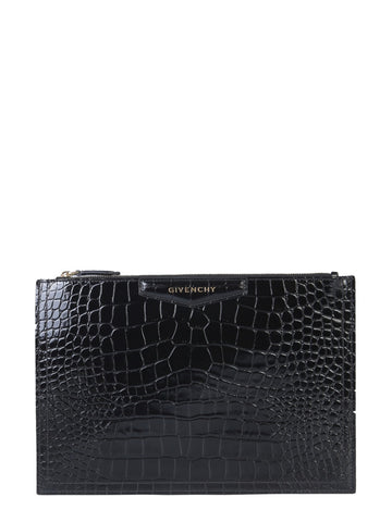 Givenchy Antigona Embossed Clutch Bag