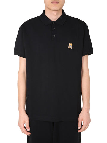 Moschino Teddy Motif Polo Shirt