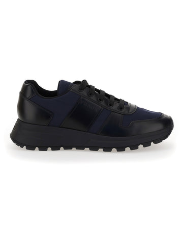 Prada Paneled Low-Top Sneakers