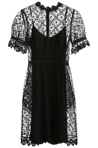 Burberry Floral Embroidered Tulle Dress