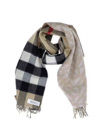 Burberry Reversible Monogram Check Scarf
