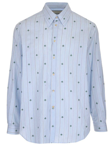 Gucci Bee Striped Button-Up Shirt