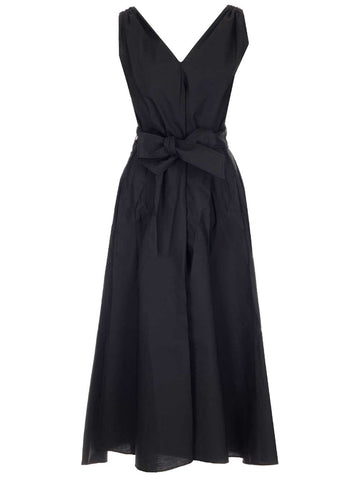 Brunello Cucinelli Belted Flared Maxi Dress