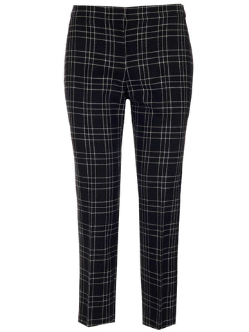 Alexander McQueen Checked Slim-Fit Trousers