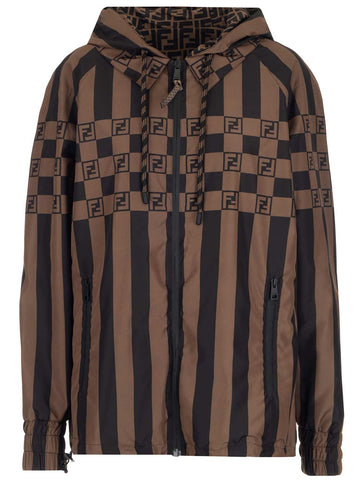 Fendi Logo Striped Jacket