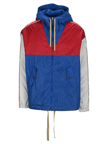 Gucci GG Hooded Colour Block Jacket