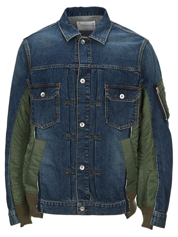Sacai Contrasting Panelled Demin Jacket