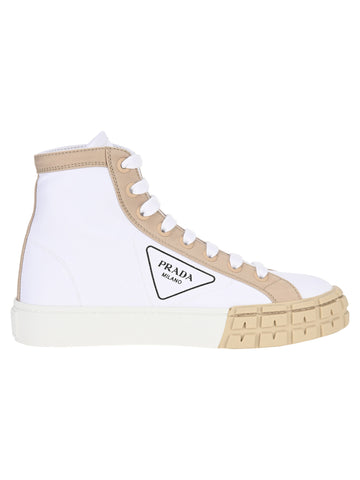 Prada Logo High-Top Sneakers
