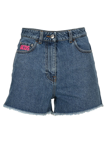GCDS Logo Denim Shorts