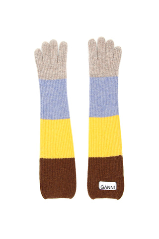 Ganni Colour Block Gloves