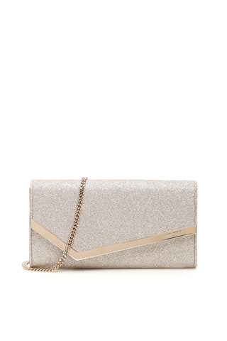 Jimmy Choo Glittered Emmie Clutch Bag