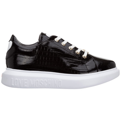 Love Moschino Heart Patch Lace-Up Sneakers