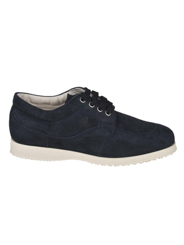 Hogan Logo Embossed Lace-Up Shoes