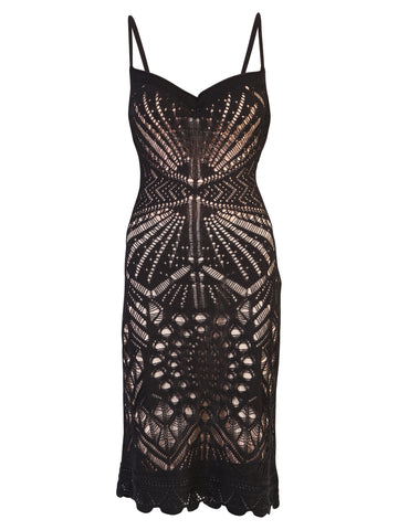 Dsquared2 Sweetheart Neckline Fitted Lace Dress