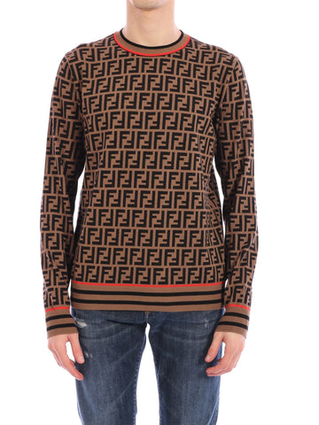 Fendi All Over FF Knitted Sweater