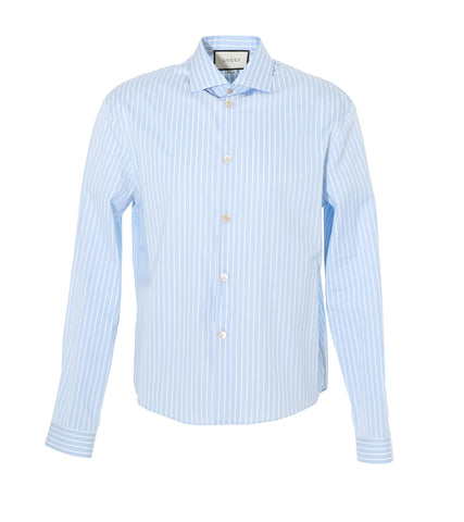 Gucci Striped Pointed Collar Shirt