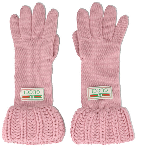 Gucci Logo Knit Gloves