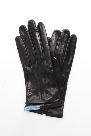 Prada Logo Detail Gloves