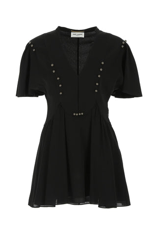 Saint Laurent Crepe Skater Dress