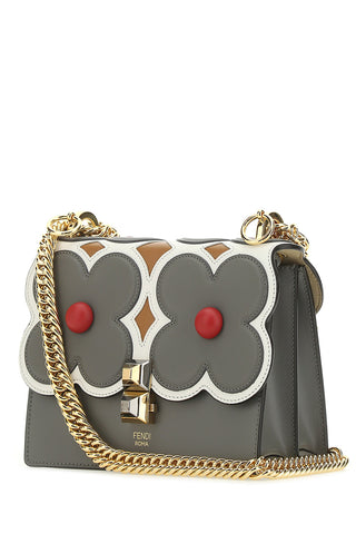 Fendi Kan I Flower-Embellished Small Shoulder Bag