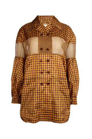 Fendi Check Print Panelled Jacket