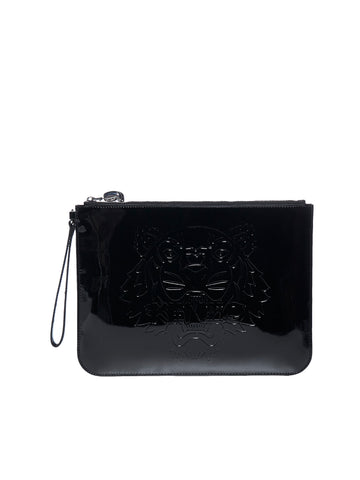 Kenzo Tiger Embossed Clutch Bag