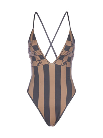 Fendi Striped Swimwear