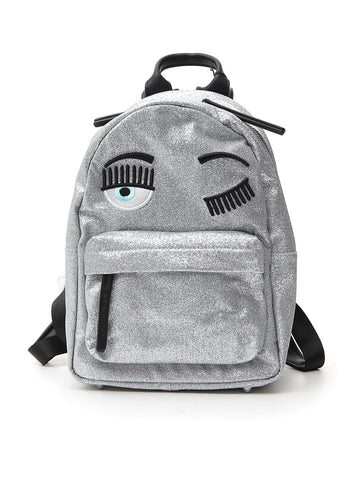 Chiara Ferragni Flirting Eye Embellished Small Backpack