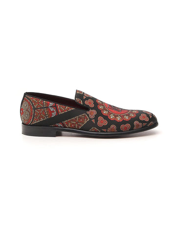 Dolce & Gabbana Printed Slip-On Shoes