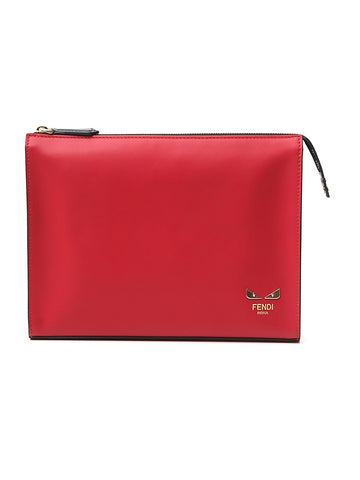Fendi Bug Eye Motif Clutch Bag