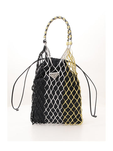 Prada Logo Plaque Mesh Bag