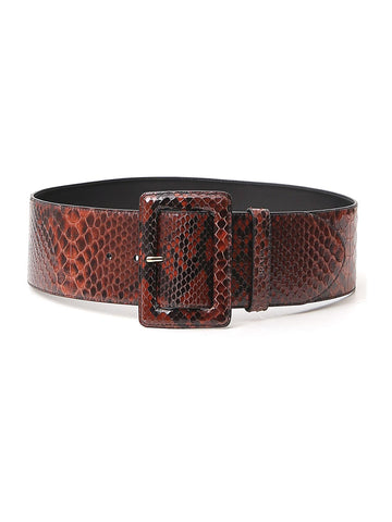 Prada Animal Print Effect Buckle Belt