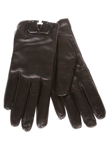 Valentino VLogo Plaque Gloves