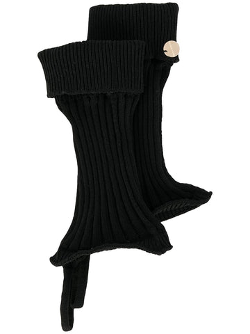 Ann Demeulemeester Cut-Out Ribbed Gloves