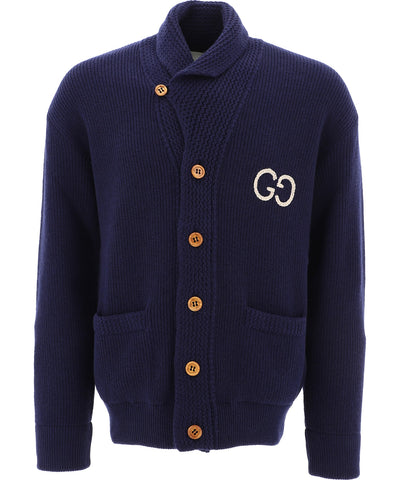 Gucci GG Embroidered Knit Cardigan